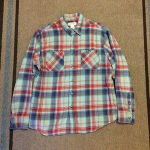 Ruff Hewn Flannel Button Down Men's Size Large